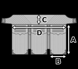 垂のサイズ見本